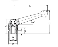SS Adjustable clamping lever schematic