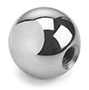 Product Image - Steel and Brass Ball Knobs