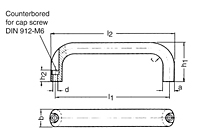 Pull Handle Aluminum schematic